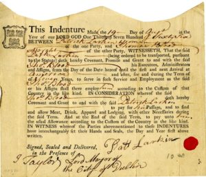 indentured servant contract